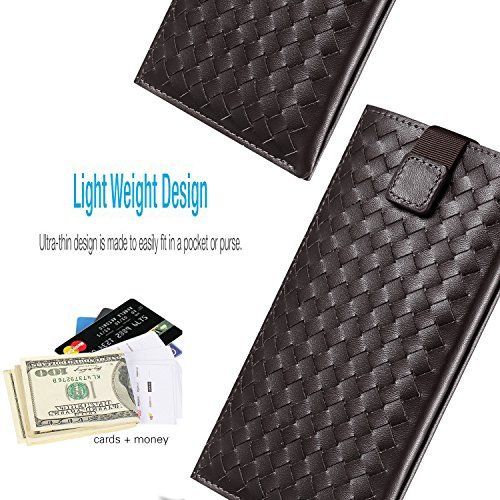 INSEL , Porta carte di credito  Unisex adulti WEAVE DARK BROWN