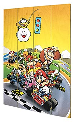 Pyramid International sw11350p Super Mario Kart (Retro) murale en bois en bois, multicolore 40 x 2,5 x 59 cm