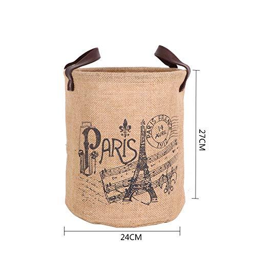 Laundry Hamper Clothes Storage Baskets Home Clothes Barrel Bags Kids Organizer Jute Storage Laundry Basket E Medium -