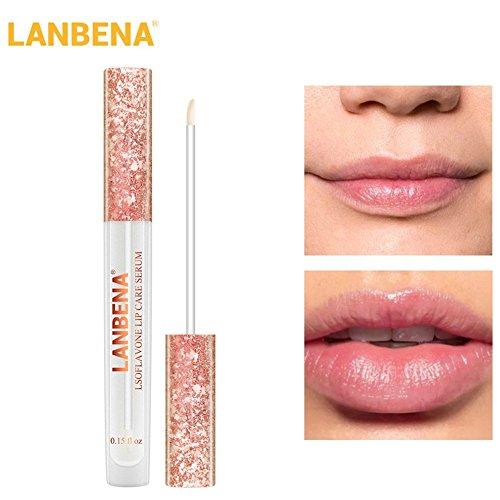 Etbotu Lippenbalsam Lippenpflegeserum Lip Plumper erhöhen die Lippenelastizität Reduzieren feine Linien, die feuchtigkeitsspendende...