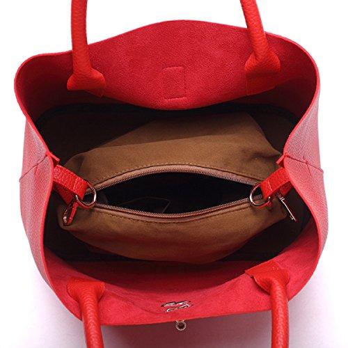 Dame Lychee Muster Beiläufige Einfache Handtaschen-Schulter-Beutel-Kurier-Beutel A