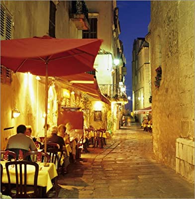Image Evening restaurant scene in Haute Ville, Bonifacio, South Corsica, Corsica, France, Europe - Stuart Black / Robert Harding - low-cost UK light store.