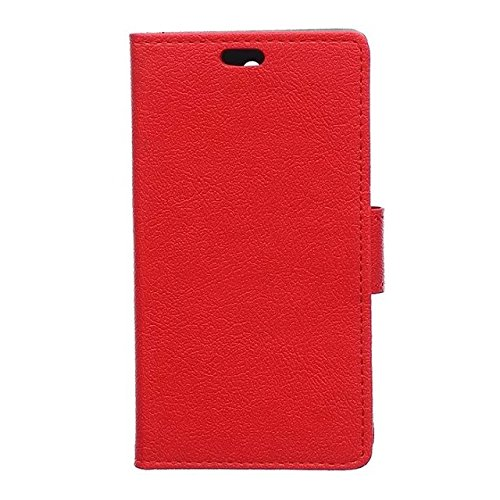 Solid Color Kas Textur Muster Leder Schutzhülle Case Horizontal Flip Stand Case mit Kartensteckplätze für Lenovo K5 K5 Plus ( Color : Red , Size : Lenovo K5 K5 Plus ) Red
