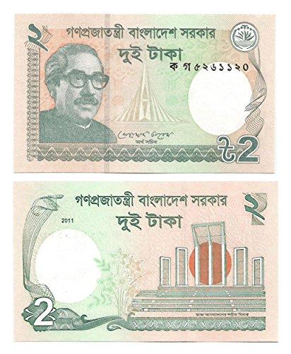 Collezione banconota valuta: Ministero delle Finanze Govt. Bangladesh / 2 Taka / Crisp / Uncirculated / Ancora in circolazione / Bangladesh 2011