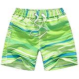 LIOOBO Costume da Bagno Pantaloncini da Bagno Tronchi da Spiaggia Pantaloncini da Nuoto Pantaloncini Corti per Bambini Ragazzo (Verde)