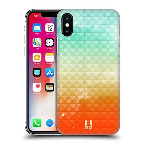 Head Case Designs Arance E Bacche Stampata Borchie Sfumate Cover Retro Rigida per Apple iPhone X Tramonto Estivo Stampato