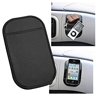 Insten Car Dashboard Sticky Pad Magic Anti-Slip Mat Non-Slip Mat for LG G6; Samsung Galaxy S8/S8+ S8 Plus And more Cellphone, Apple iPhone X/8/8 Plus, iPod, MP4, GPS, Black
