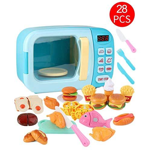 Mikrowelle Spielzeug Mit Realistischen Geräuschen Küchenspielzeug Kinder Küchengeräte Ofen Für Küchen Zubehör Kochen Küchen Spielzeug Für Kinderküche Rollenspiel 28 Stück