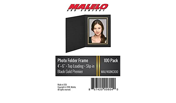 Blackgold Cardboard Photo Folder Frame 4x6 Pack Of 100 Malelo