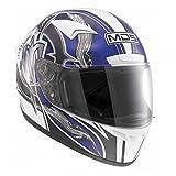 AGV Casco moto M13 MDS E2213, Multicolore(Pennello Bianco/Blu), XS