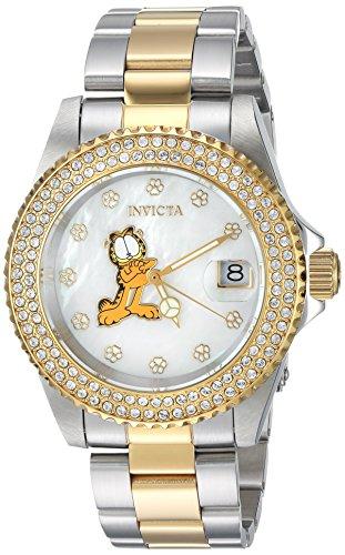 Invicta 24869 Character - Garfield Orologio da Donna acciaio inossidabile Quarzo quadrante bianca
