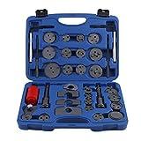 35-Tlg Bremskolbenrücksteller Kolbenrücksteller SET Kolben Rücksteller inkl. Koffer und 28 Adaptern (Blau)