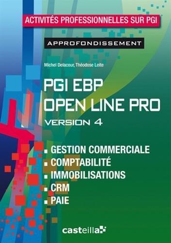 PGI EBP Open Line Pro Version 4 : Activités professionnelles sur PGI, Approfondissement