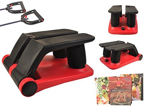 2015 New Air Stepper Climber Exercise Fitness Thigh Machine W/DVD Resistant Cord by New Unbrand