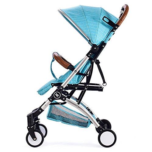 Sillas De Paseo Ligero Carritos De Bebe Plegable Carro Bebe De Viaje Por Cochecito De Bebé De,Blue