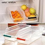 SADA72 Contenedor para Nevera, 2 Unidades, Caja de Almacenamiento Duradera para frigorífico, Organizador de despensa, Cocina, hogar, congelador, Color al Azar