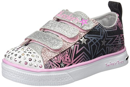 new product ea34d 7c19a Skechers Twinkle Breeze Comet Cutie, Sneakers Basses Fille Noir (Bksp)