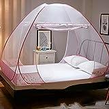 Tina Pop-up Moskitonetz mückennetz,Insektenabwehr 1 Oder 2 Oder 3 Einträge Kompakt und leicht Frei Installation Faltbar Camping Home-F 200x120x160cm(79x47x63inch)