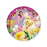 Procos 1013–Pappteller Disney Fairies, Ø20cm, 10Stück, Pink