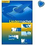 Liedermacher - Liederbuch mit 25 bekannte Stücke von fünf Liedermacher: Ulla Meinecke, Klaus Hoffmann, Georg Danzer, Hannes Wader, Reinhard Mey - Songbook für Gitarre mit Notenklammer 9790001133197