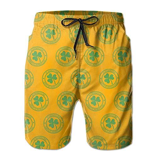 OPoplizg Happy Saint Patrick's Day Men's Summer Beach Quick-Dry Surf Swim Trunks Boardshorts Cargo Pants,L