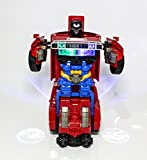 idreamtrader Auto deformazione Robot con Luce e Suono Transformer Concept Bambini di Peluche–Best Gift
