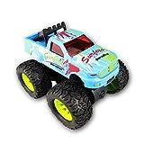 BIYASO Hot Wheels Monster Jam Trucks Rückziehauto für 6-24 Monate, Baby Boy Girl Kid Weihnachten, Geburtstag - blau