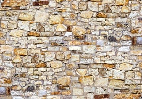 Papier Peint Photo Mural INTISSÉ-(288V) MUR de PIÈRRES -350x260 cm -7 lés 50x260 cm- de haute qualité impression NUMÉRIQUE photo réaliste! Colle spéciale pour INTISSÉ- Non Woven - Poster Géant XXL-Brique Pièrre Rocher Nature Paysage -Salon Nursery Cuisine