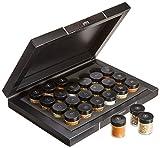 Hallingers Grillkalender BBQ 24 Männersache, black Set/Mix 24x Miniglas in Deluxe-Box, 1er Pack (1 x 385 g)