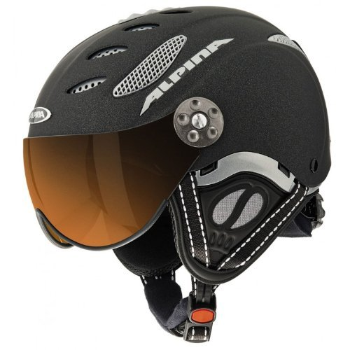 Alpina Skihelm Jump JV, schwarz matt, 55-57 cm, 9037232