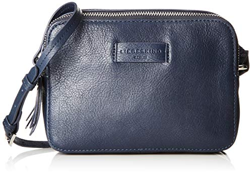 Liebeskind Berlin Damen Essential Camera Bag Small Umhängetasche, Blau (Navy Blue), 7x14x20 cm