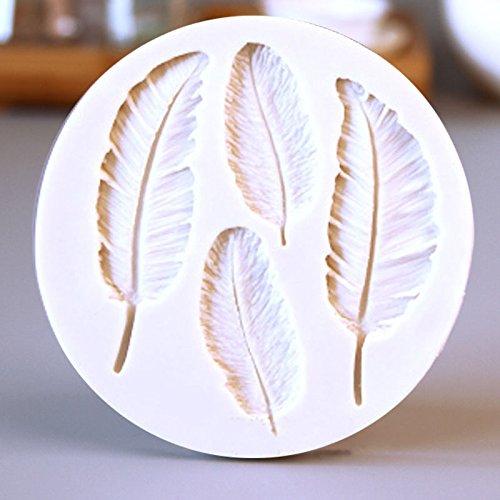 Vivin Silikon-Feder-Kuchen-Form-Fondant DIY Tools Plätzchen Schokolade Backen Farbe in - Halloween-fondant-formen