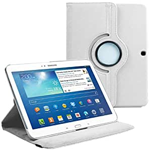 AM P5200 WHITE Housse avec film de protection d'écran/stylet pour Samsung Galaxy Tab 3 Blanc