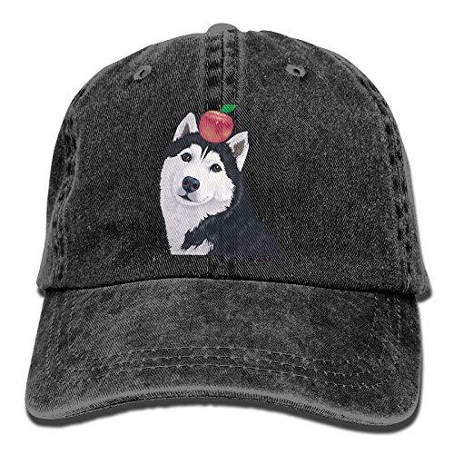 Aoliaoyudonggha Husky Apple Denim Baseball Caps Hat Adjustable Cotton Sport Strap Cap for Men Women