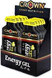 Crown Sport Nutrition 12 x Energy Liquid Gel (40g), Kohlenhydrate, Aminosäuren und Elektrolyte,...