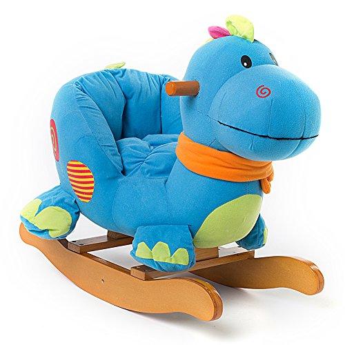 Labebe cavallo dondolo legno peluche dondolo bambini di dinosauro blu per 6 36 mesi - Sedia dondolo bambini ...