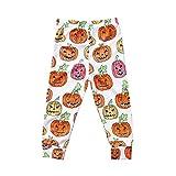 OdeJoy Kleinkind Kinder Baby Mädchen Halloween Kürbis Fledermaus Gedruckte Hose Outfits Dünn Hose Gamaschen Mode Baumwolle Langehose Casual Lächelndes Gesicht Leggings (Orange,80)