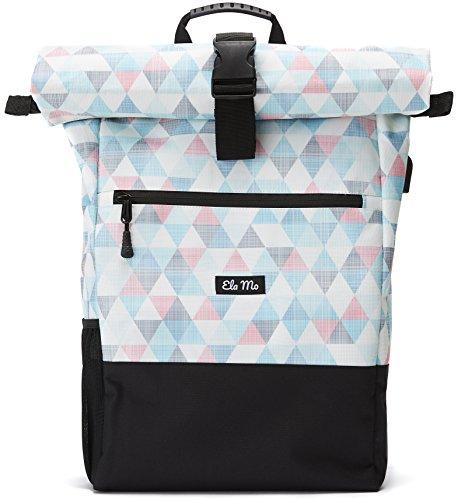Ela Mo's Rucksack Damen | Schön und Durchdacht | für Uni Reisen Freizeit Job | mit Laptopfach & Anti Diebstahl Tasche | Pastell (Damen Leichte Portemonnaies)