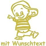 Babyaufkleber mit Wunschtext - Motiv 138 (16 cm) - 20 Farben und 11 Schriftarten wählbar