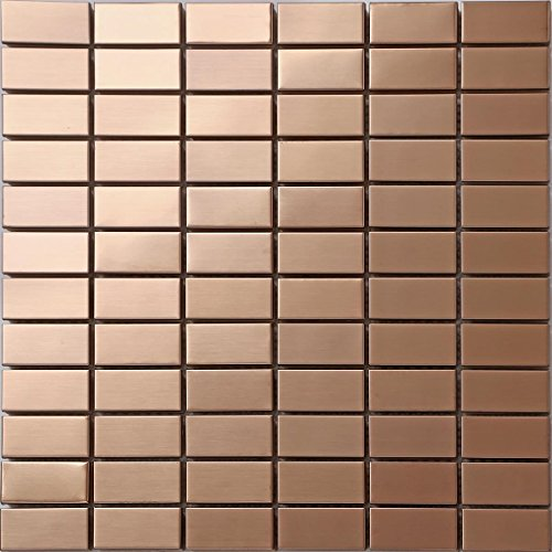 Copper effect Stainless Steel Mosaic Wall Tiles (MT0105) (1 Sheet)