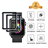 2 Stück Aottom Kompatibel Apple Watch 42mm Schutzfolie 3D Panzerglas Apple Watch Series 3 Displayschutz Glas Folie iWatch 42mm Screen Protector Full 9H HD Glasfolie Tempered Glass Film für iWatch 42mm