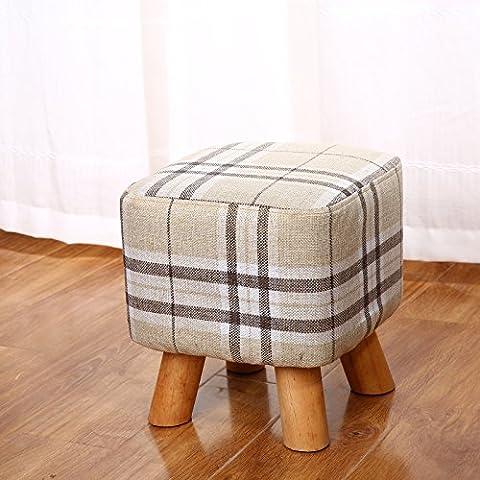 upper-Tabouret Table tissu petit banc Changer chaussures maison peut être ronde lavable tabouret bas Fauteuil salon canapé,Selles Stripe-side