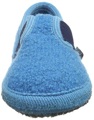 Haflinger Joschi, Chaussons mixte adulte Bleu - Blau (Adria 45)