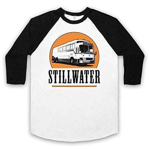 Inspiriert durch Almost Famous Stillwater Inoffiziell 3/4 Hulse Retro Baseball T-Shirt Weis & Schwarz