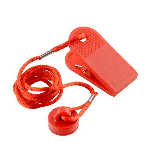 Forfar 1pc Universal Sports Running Machine Sicherheitssicherer Schlüssel Laufband Magnetische Sicherheit Runde Schalter Lock Fitness Für die meisten Laufbänder Rot