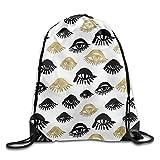 Naiyin Unisex Drawstring Backpack, Trendy Sexy Woman Eyes with Eyelash Unusual Style Fashion Icon Drawstring Gym Sack Sport Bag