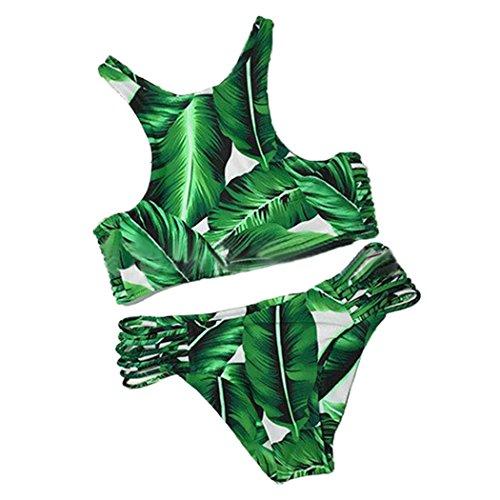 Summer-Mae-Mujer-Conjuntos-De-Bikini-Elstico-Floral-Acolchado-Con-Tejer