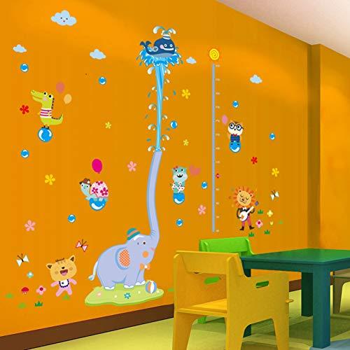 KPOIYRL Dessin animé Animal Grandir Hauteur Mesure Règle Pépinière Enfants Chambre Enfants Amovible Carreau De Mur Stickers Porte Decal Décor Mural