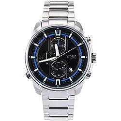 Leopard Shop TVG KM - A501 Male Quartz Watch Date Display Luminous Pointer Chronograph 50m Water Resistance Wristwatch Black
