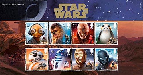 Präsentationsmappe PP547, Star Wars 2017– Royal Mail Briefmarken